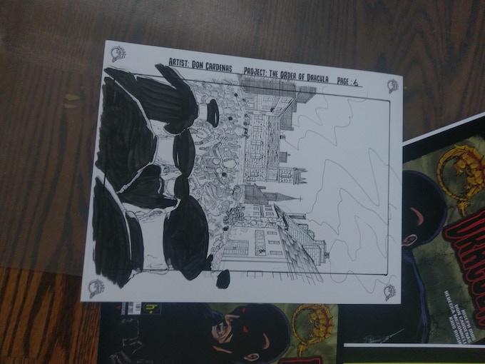 Order of Dracula original art page