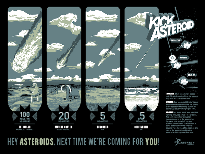 Kick Asteroid Poster Design