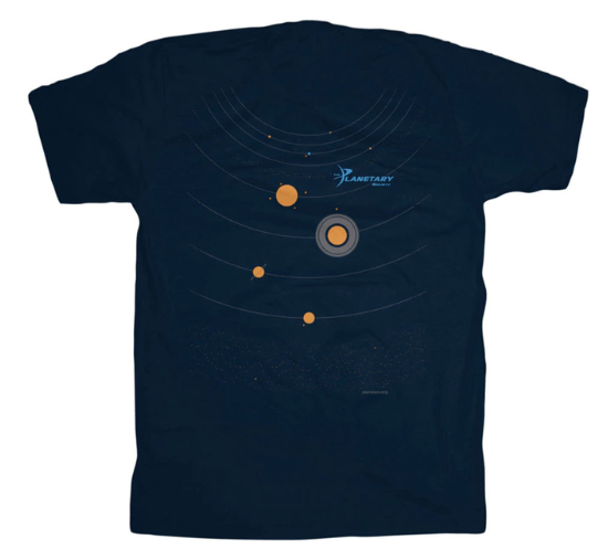 Your Head is the Sun Planetary Society membership T-Shirt