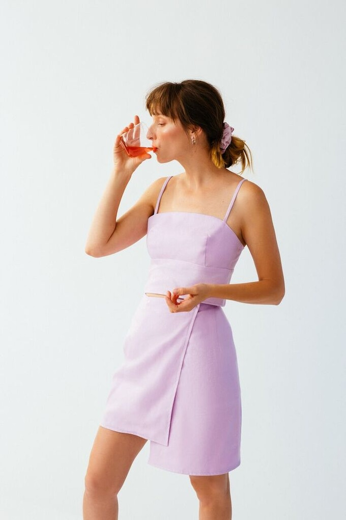 Ellice Ruiz | Emmalee wearing the Emily Top in Orchid & the Sara Skirt in Orchid