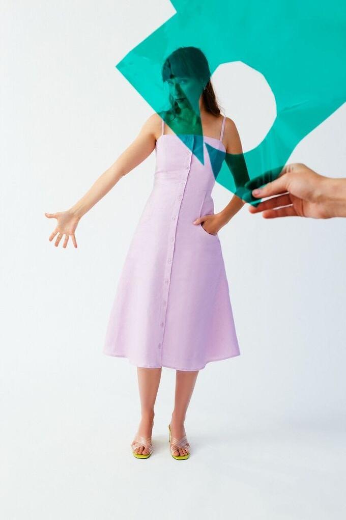 Ellice Ruiz | Emmalee wearing the Ashley Dress in Orchid