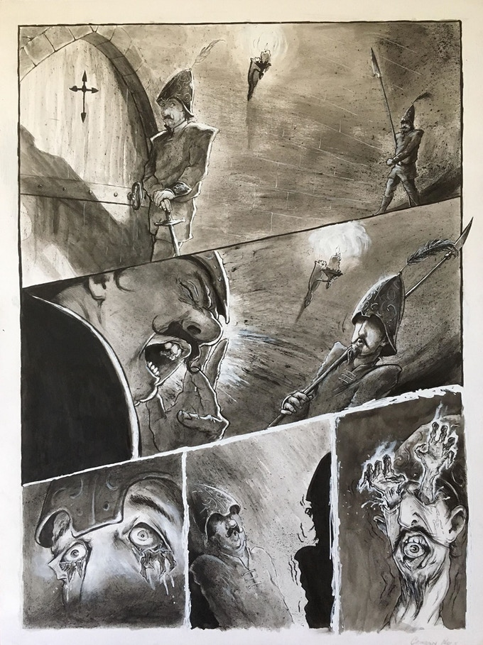 sample of original interior art by Casey Parsons