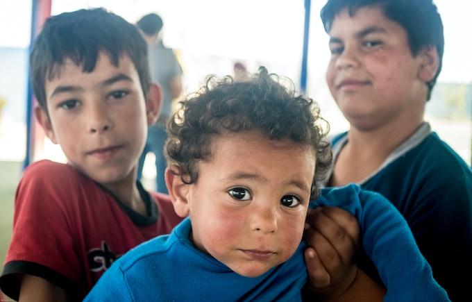 2 boys and a baby, Zaatari Refugee Camp, Jordan