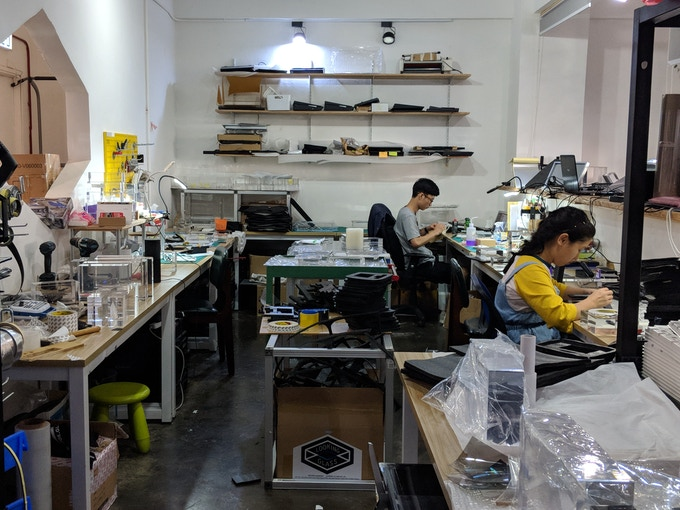 One of the test assembly rooms inside the Looking Glass Hong Kong Lab