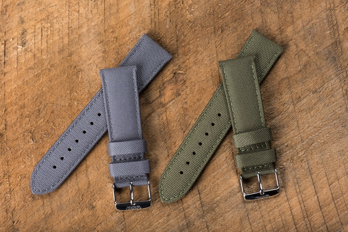Grey and Army Green Field Straps