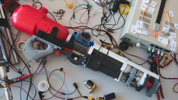 Arduino-controlled first garage-built prototype