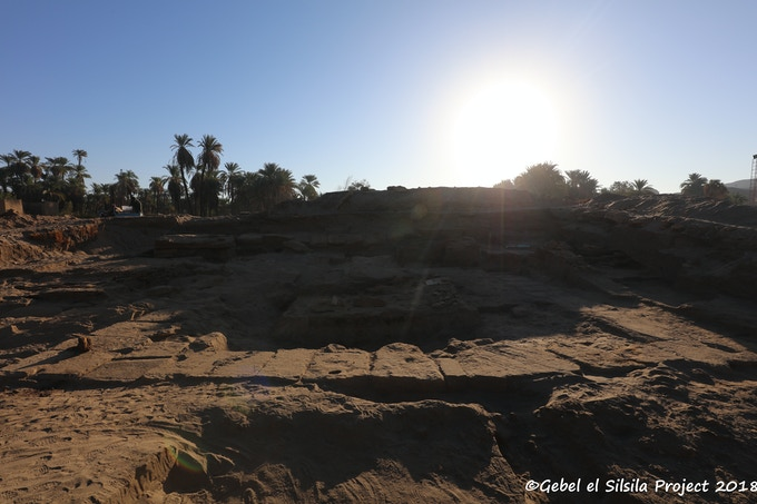 Temple of Sobek, western part, at sunrise