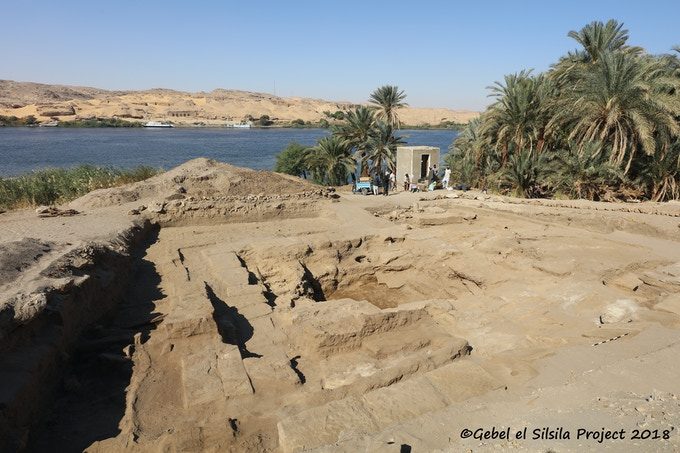 Temple of Sobek, western part, as excavated so far