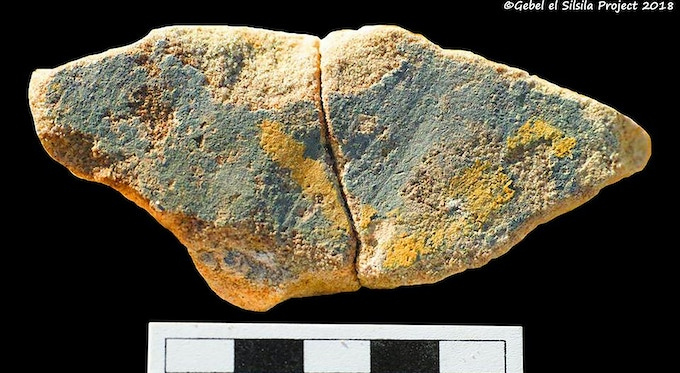A star-fragment from the ceiling interior, showing us that the Temple was once complete!