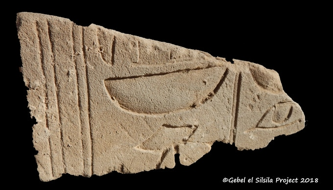 "A small, but unique hieroglyphic fragment: ""Sobek, Lord of Kheny"""