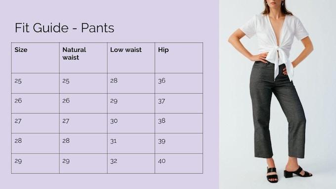 Ellice Ruiz | Fit Guide - Pants