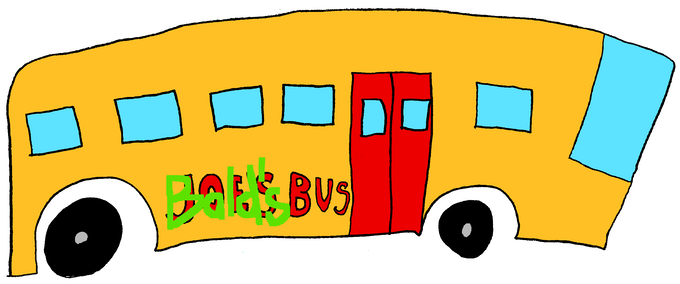 Go on field trips in this bus that is definitely Baldi's and totally not some one else's!