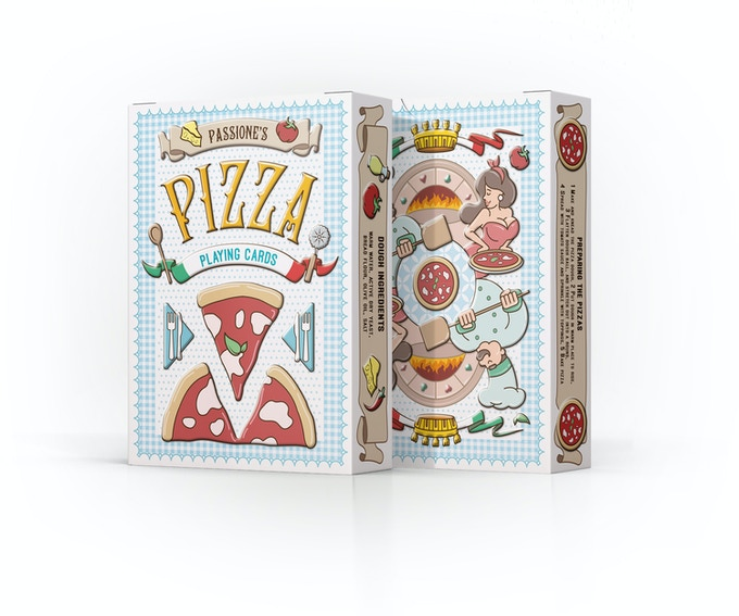the Pizza Playing Cards tuck case