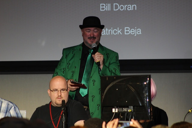Game Show hosting at the Frogpants All-Stars Match, 2017