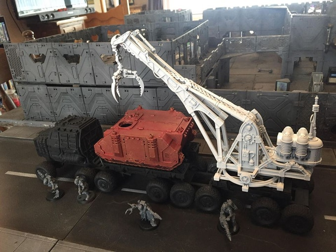 Flexible Fun Model - Crane & APC shown for scale purposes only