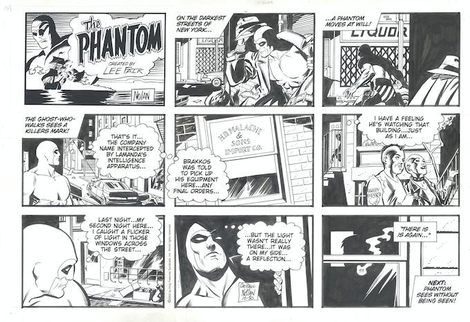 PHANTOM Sunday Strip Original Art by Graham Nolan!