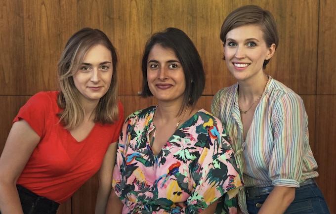 The Earios team: Maria Blasucci, Priyanka Mattoo, Amanda Lund.