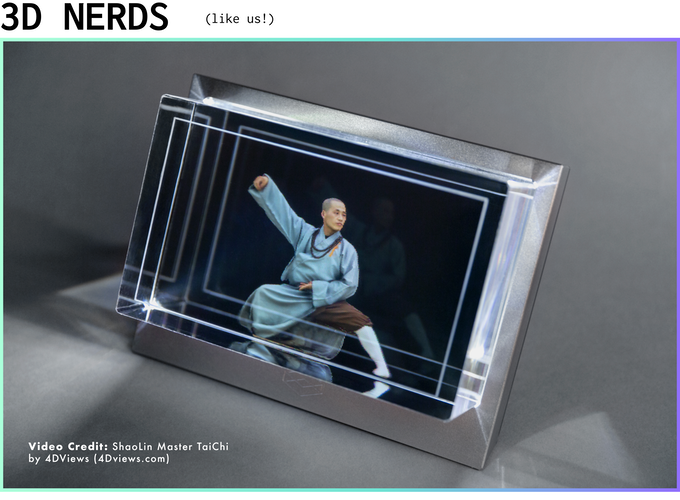 The Looking Glass: A Holographic Display for 3D Creators by