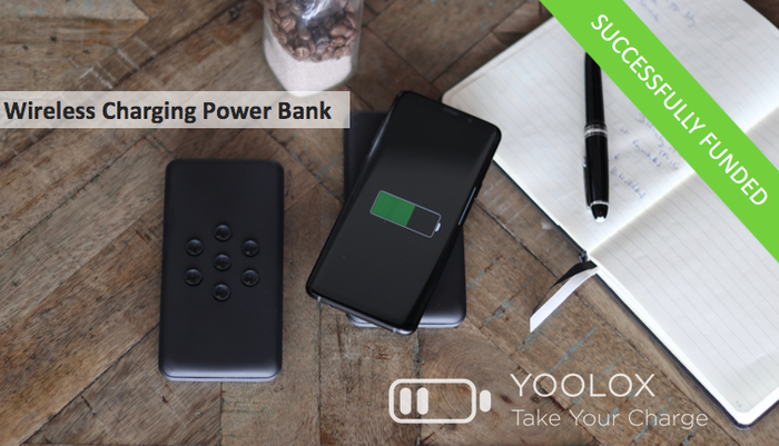 We have developed a brand-new power bank with state-of-the-art wireless charging technology.