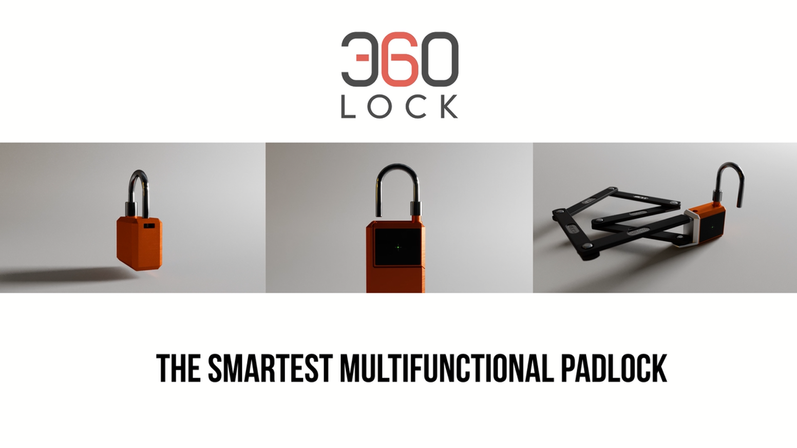 360LOCK is a fully customizable smart padlock with essential accessories for small objects storage, bicycles and many more to come.