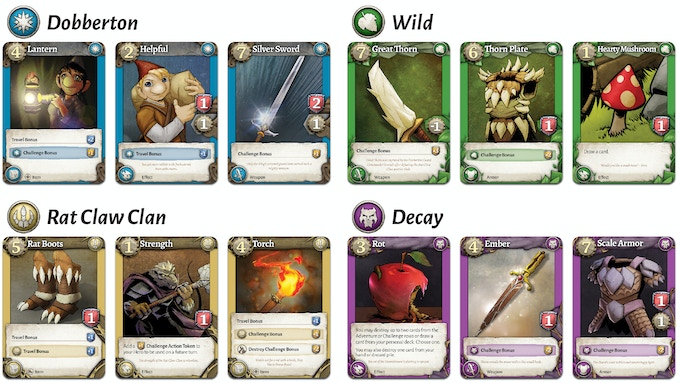 Dobbers: Quest for the Key, RPG, deck building, quest TTBG by Darryl