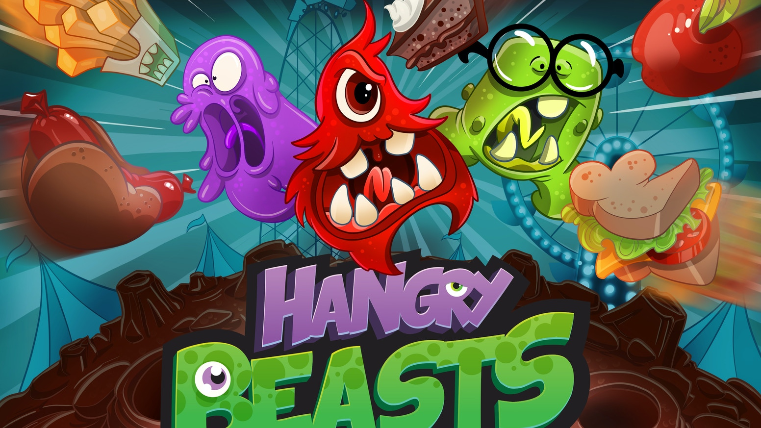 The only food fight that's mother approved! Hangry Beasts is an augmented reality mobile game for 2-4 players in a massive food fight.