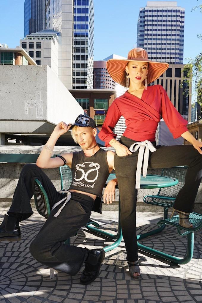 """Unisex Hemp Fleece Trousers & """"Customized"""" Logo Tee"""
