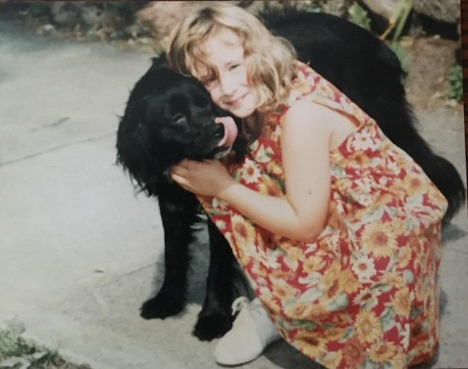 Me and my dog, Malka