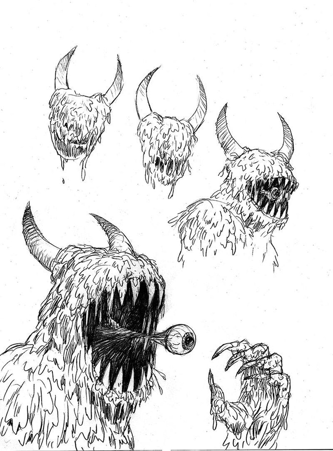 sample of Robert Freeman's Monster designs
