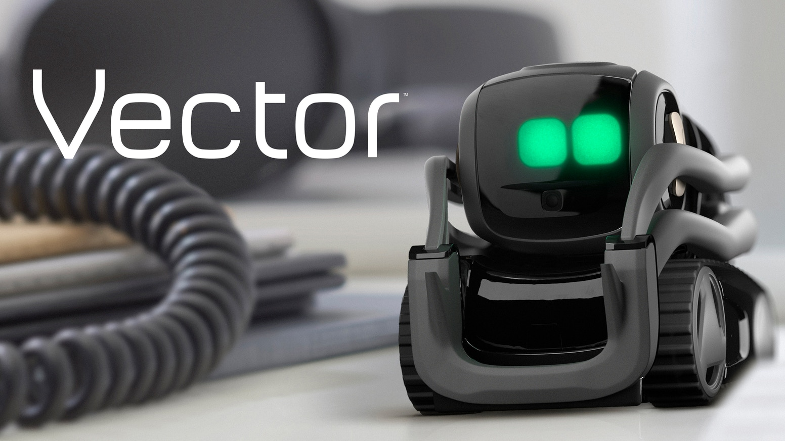 Vector is the answer to our sci-fi dreams. He's a home robot who's always on, happy to see you, voice-enabled, and eager to help.