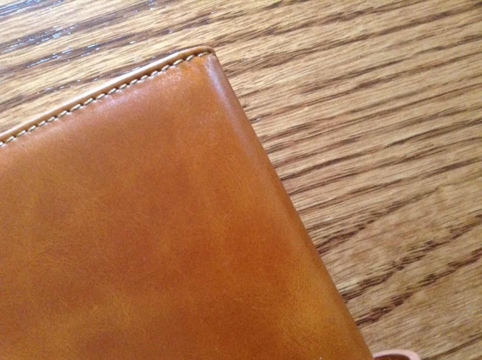 High quality top grain leather with golden brown color