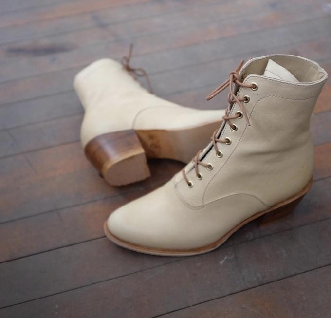 Granny boot, handmade in Saskatoon by Last Shoes.