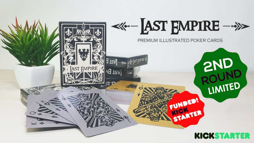 Last Empire - Silver/Gold Poker Playing Deck
