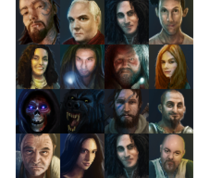 Some of the other NPC portraits. You may recognise a few.