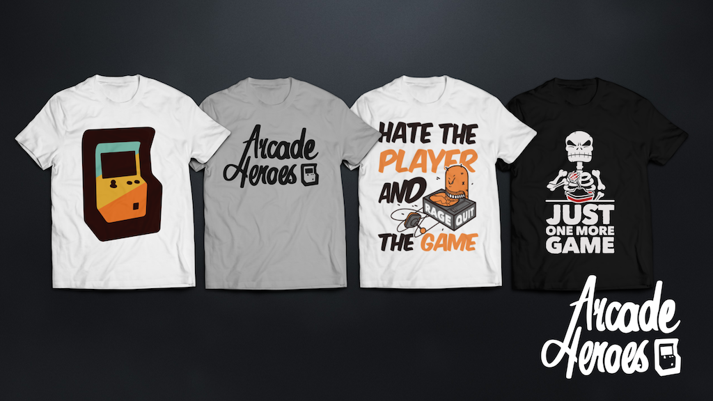 Project image for Arcade-Heroes / premium, hand screen-printed tees for gamers (Canceled)
