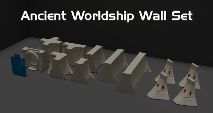 Digital render of the wall set