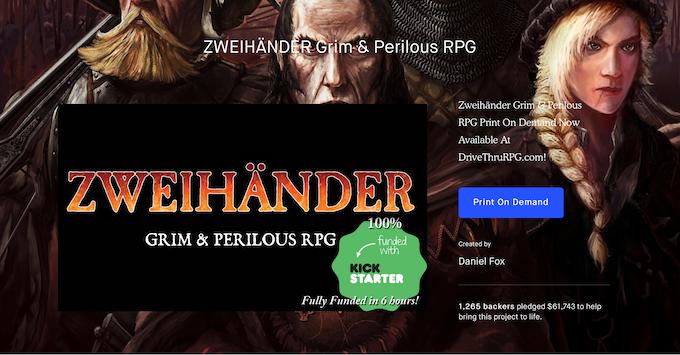 First Kickstarter (click to view)