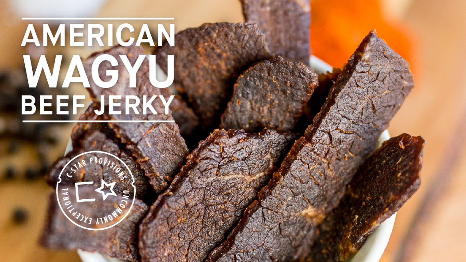 Cowboy Star Provisions proudly presents an all-natural, rich, and full-flavored wagyu beef jerky sourced locally from the USA!