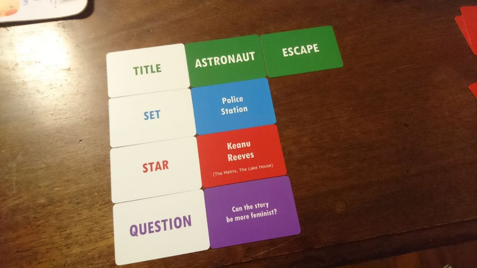 lights camera pitch a party game for storytellers by jack heath