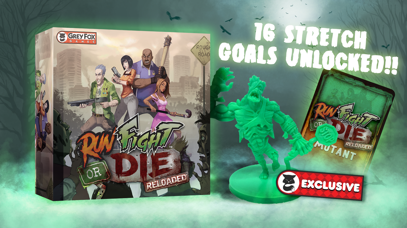 A complete reboot of the popular Run, Fight or Die dice game by Richard Launius of Arkham Horror fame.