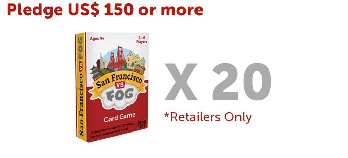 Twenty (20) San Francisco VS Fog card game