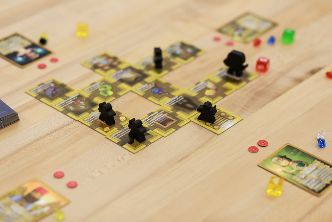 Note: Explorer meeples will be different colors in the final printing. Ex: Yellow, red, blue, green, purple...