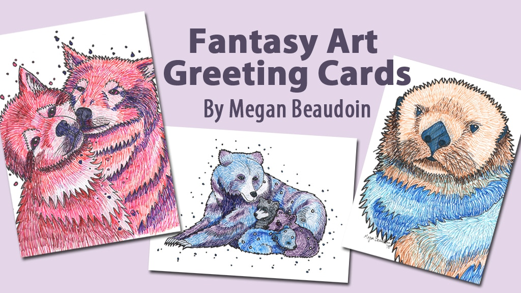 Fantasy art greeting cards by megan beaudoin kickstarter fantasy art greeting cards project video thumbnail m4hsunfo