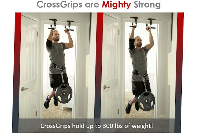 At Jayflex we know that your equipment needs to be as strong as you are. No problem. CrossGrips hold up to 300 pounds in weight.