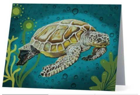 One of many colorful designs in the Art Notecard 8pack