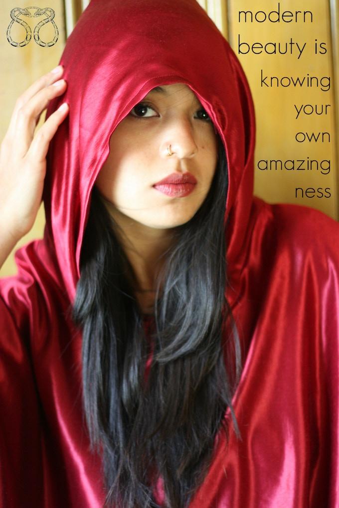 Red Hemp Silk Hoodie
