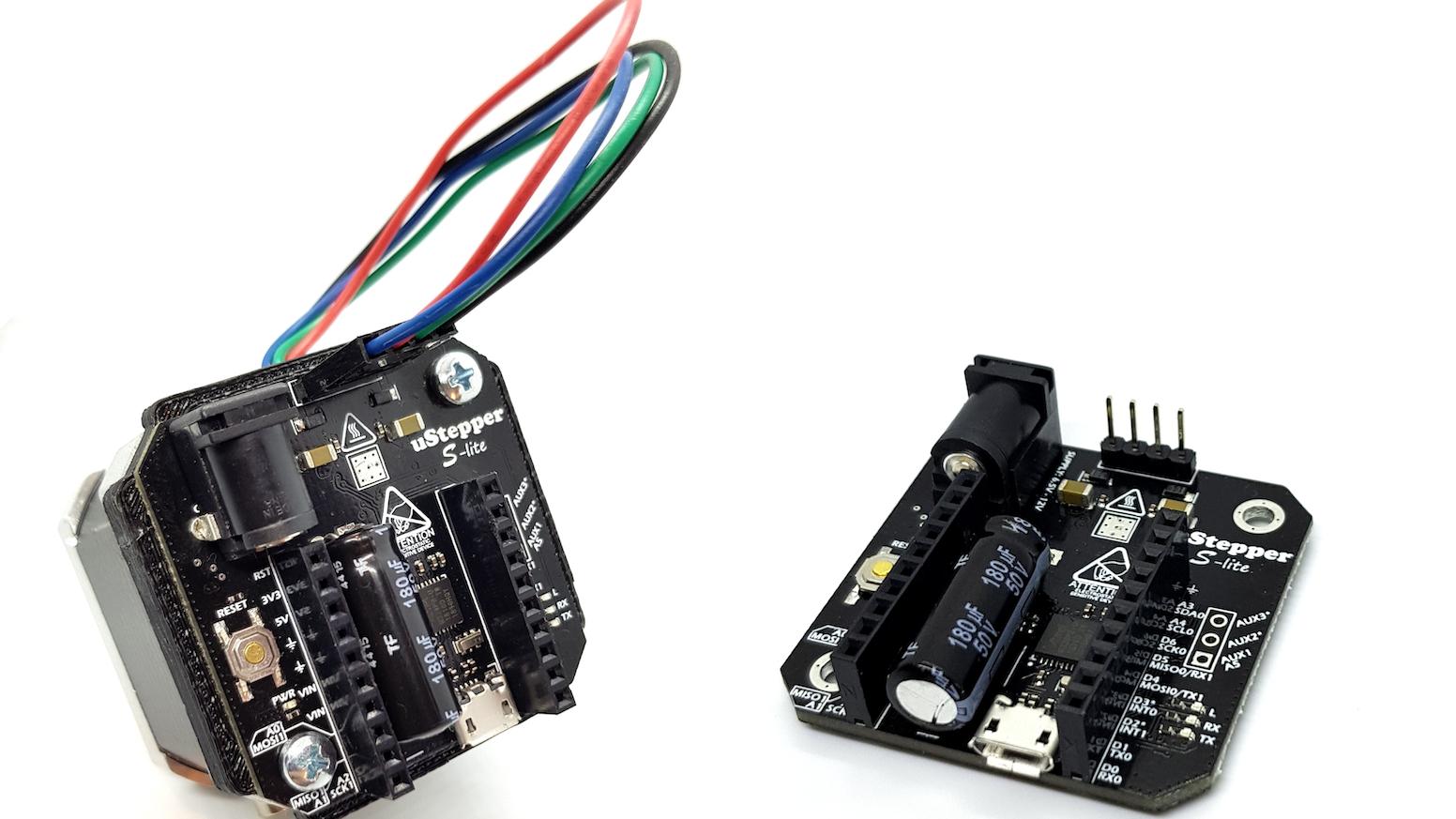 uStepper S line incorporates super silent stepper drivers, high resolution encoders and Arduino compatible MCU in a super slim design!