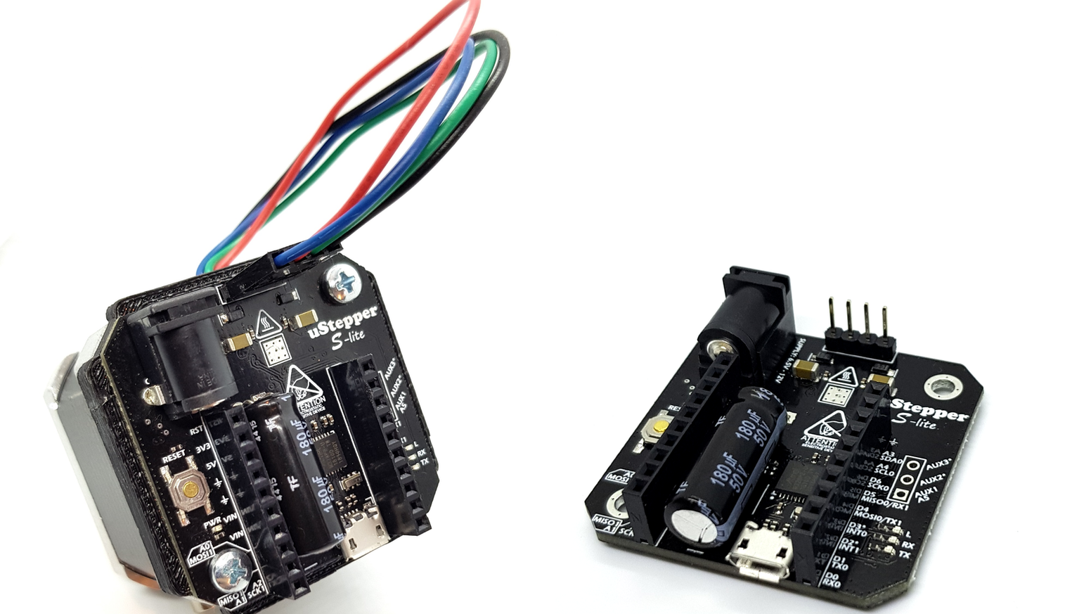 uStepper S line incorporates super silent stepper drivers, high resolution encoders and Arduino compatible MCU in a super slim design!