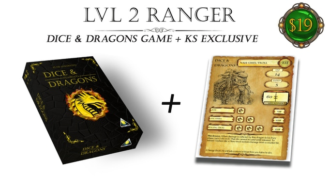 Dice & Dragons - Fantasy Role Playing Dice Game  by Golden Egg Games