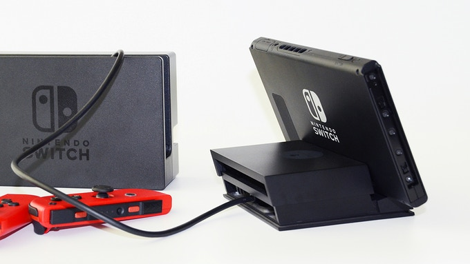 The Jumpgate Dock can also work with the Nintendo dock.